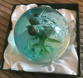 HIGH QUALITY HANDMADE PAPERWEIGHTS IN PRESENTATION BOX