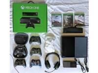 XBOX ONE DREAM COMBO! 6 controllers (1 Elite), Turtle Beach headset, 3 Games, etc. MUST Read Descrip