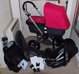 BUGABOO CAMELEON TRAVEL SYSTEM,MAXI COSI CAR SEAT AND BASE