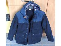 Boys Navy padded coat