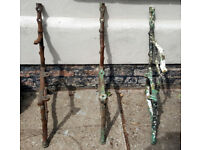 Antique Victorian Cast Iron Bench Ends Plus Middle Support