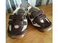 Clarks baby first shoes size 4 F