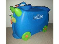 Blue Trunki kids ride-on suitcase