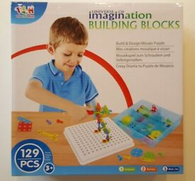 Universe of Imagination Building Blocks Build & Design Set 129 pieces - NEW & UNOPENED