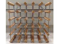 Wine rack holds 25 bottles