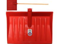 Heavy Duty Wooden Handle Red Plastic Snow Muck Sand Leaf Scoop Shovel 120cm x 42 x 28