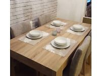 6-8 seater table with 4 chairs - OFFERS WELCOME