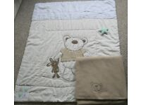 Neutral coloured bedding for a cot - Two bundles £3 and £7