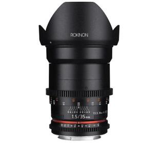 NEW Rokinon DS35M-MFT Cine DS 35mm T1.5 AS IF UMC Full Frame Cine Wide Angle Lens for Olympus and Panasonic Micro Four