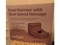 Aidadapt Feet Foot Warmer with dual-speed massage