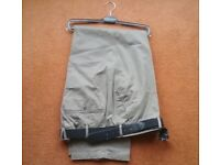 New with tags Gurteen Cotton Madison Mens Trousers Size 44R with Belt