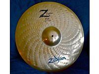 "Zildjian Z Custom Ride 20"" Drum Cymbal - Good Condition"
