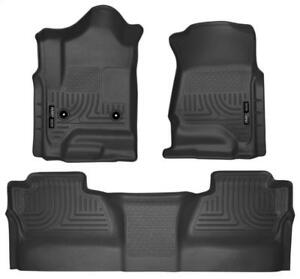 2014-2018 Chevy Silverado & GMC Sierra CREW CAB Husky Liner Weatherbeater Floor Liners | Order Today at www.motorwise.ca