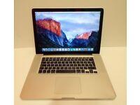 Macbook Mac Pro 15 inch laptop Intel 2.66ghz processor 500gb hd in full working order