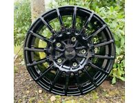 """18"""" Ford Transit TMS Style (Black) Alloy Wheels and Tyres. (5x160) Suits most Transit models"""