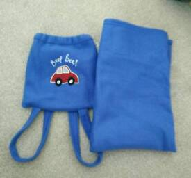 Fleece blanket in a bag