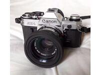 Canon AE-1 SLR Film Camera