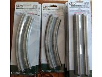 KATO N gauge model train double track new, never used.