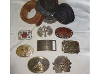 American belt buckles. 8 plus 4 belts