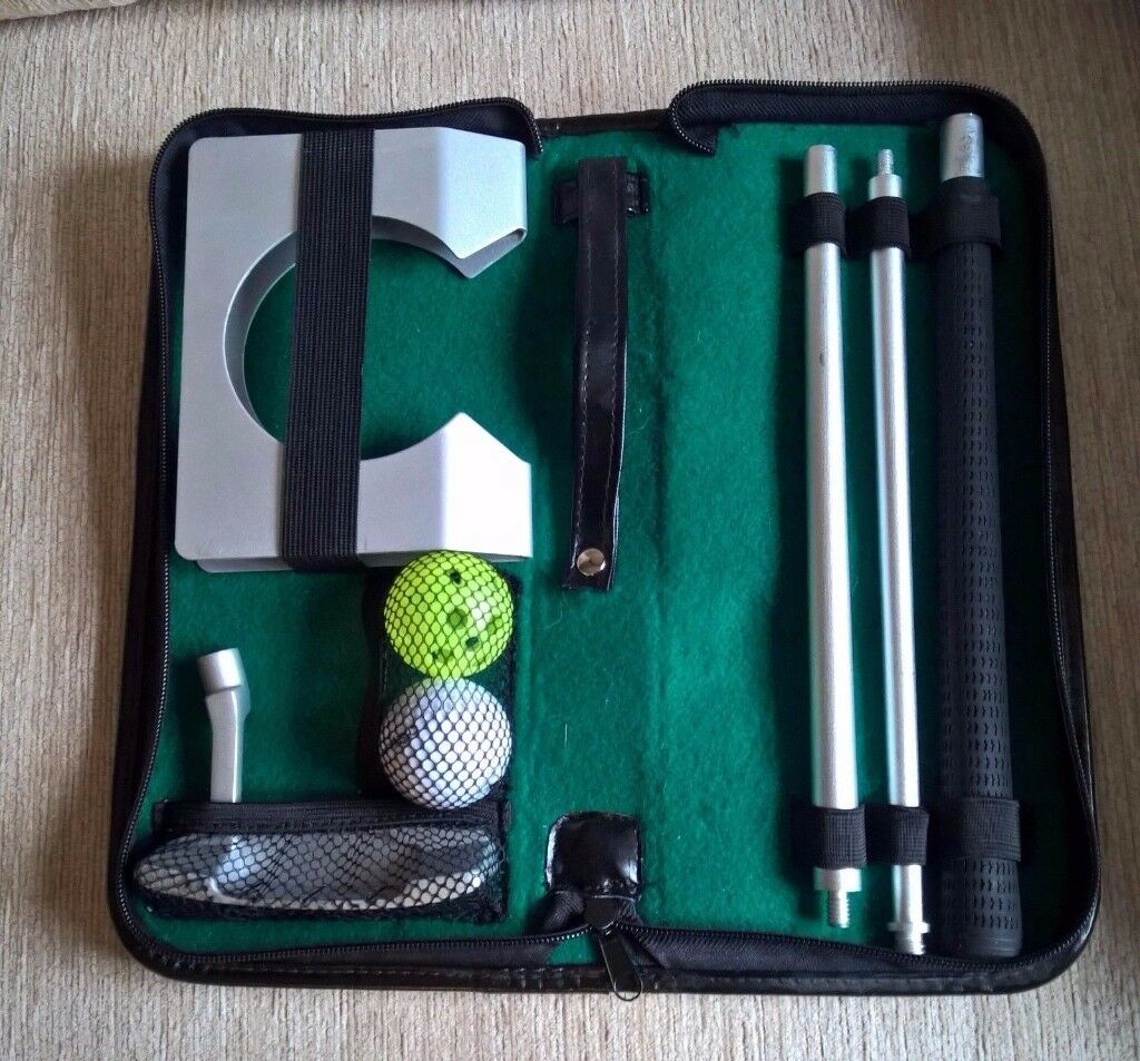 Indoor putting kit