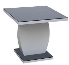 LAMP TABLE BLACK AND WHITE