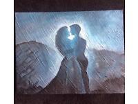 romantic couple canvas