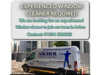 Experienced Window Cleaner Required in Bolton - Full-Time Vacancy