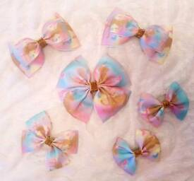 Handmade Unicorn Hair Bows 🦄