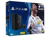 PlayStation PS4 Pro 1 TB with FIFA 18 Ultimate Team Icons and Rare Play