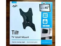 "AVF Tilt TV Wall Mount Tilting Bracket Up to 40"" (New &Sealed)"