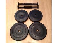 Dumbbell Bars + Weight Plates