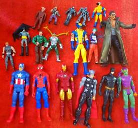 Bundle of Marvel and DC characters