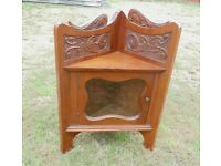 (#151) furniture wooden wall corner unit excellent condition (Pick up only, dy4 area)