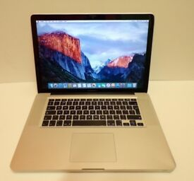 Macbook Mac Pro 15 inch laptop Intel 2.66ghz processor 500gb hd