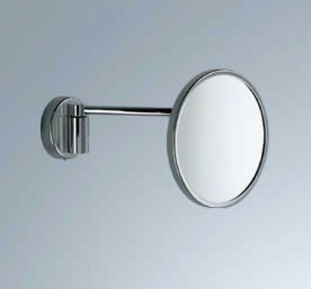 New Inda Magnifying Bathroom Mirror With Lamp Av158acr In Romford