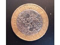 Rare Minted Errors 1707- 2007 £2 COIN Tercentenary Act of Union, Circulated