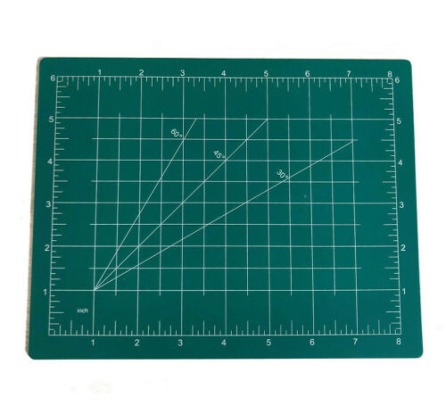 Crafters 8 X 6 Small Cutting Mat With Inches and 3 Angles 30 45 60 Degree Board