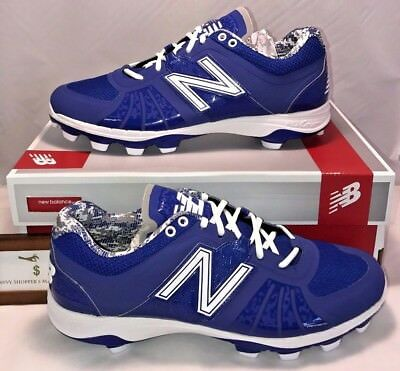791fe162de04 New Balance Mens Size 12.5 Low Molded Baseball Cleats Blue White