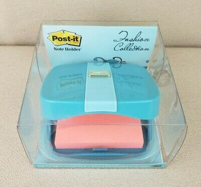 Post-it 3m Note Holder Fashion Desk Office Organizer Tiffany Blue Teal Purse Nos