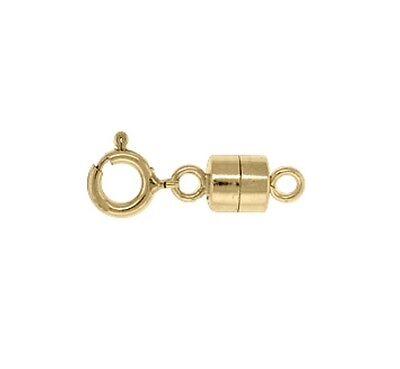 14k Gold Filled 4.5mm Magnetic Clasp Converter w/ Spring Ring 1 set  #6305-9 ()