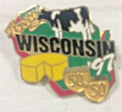 1997 QVC America's Best Tour 50 in 50 Wisconsin Collectible Pin Dairy Cow