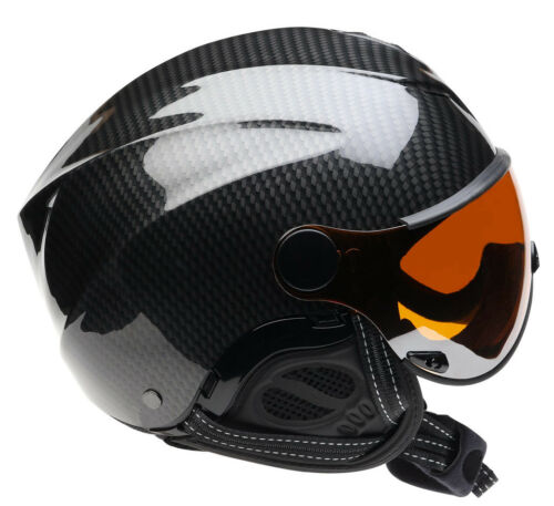 Icaro Nerv Helmet Carbon & Orange Visor - Paragliding, Hang Gliding, Speedriding