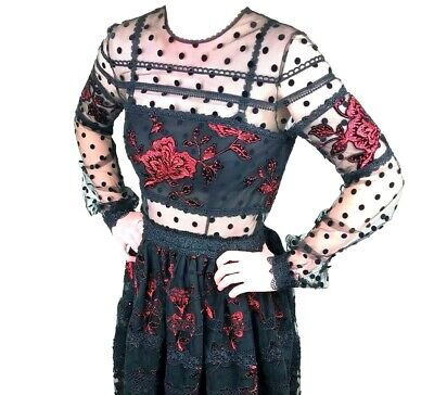 New tag~$2755 Costarellos Tea-Length Dress/Gown. Size 2.Cocktail/Black Tie