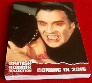 BRITISH-HORROR-COLLECTION-FULL-18-CARD-PREVIEW-SET-Christopher-Lee