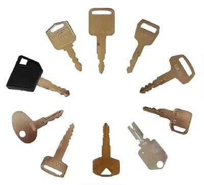 10 Forklift Heavy Construction Equipment Ignition Key Set Toyota Nissan Daewoo
