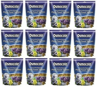 12 x Pouches Of Osmocote plant food tablets - 25 Tablets Per Pack