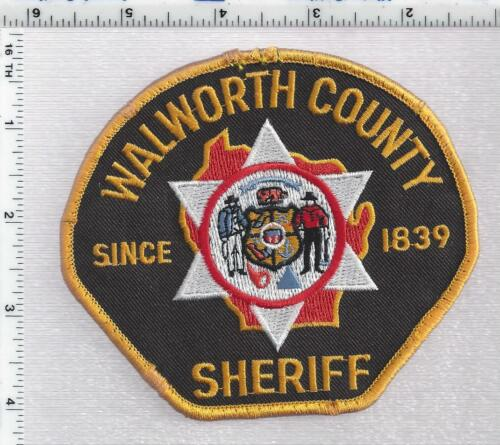 Walworth County Sheriff (Wisconsin) 2nd Issue Uniform Take-Off Shoulder Patch