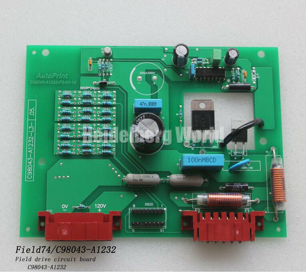 C98043-A1232-L3 Field Drive Circuit Board For MO/SM74 Heidelberg Machine New - $365.00
