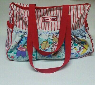 Vintage 90s? Vinyl Gerber Nursery Rhyme Animal Unisex RARE HTF BABY DIAPER BAG  Gerber Diaper Bag
