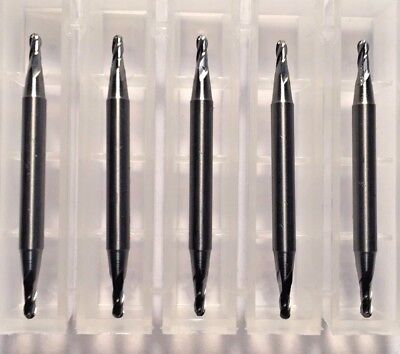 116 Dia X 18 Cut 4 Flute Double End Ball Carbide End Mill Usa Made 5-pack